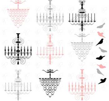 French Chandeliers Clipart by Poppydreamz