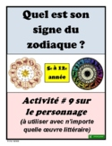 French Character Astrological Signs Activity (#9)