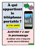French Character Cell Phone Activity (#1)