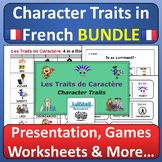 French Character / Personality Descriptions BUNDLE