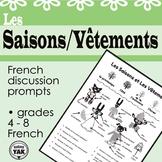 French Chatroom: Les Saisons et Les Vêtements/ Seasons and