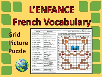 French Childhood Grid Picture Puzzle