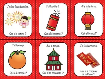 French Chinese New Year Nouvel An Chinois J'ai Qui a? Class Game
