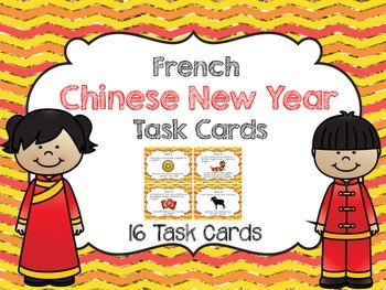 French Chinese New Year Task Cards- Nouvel an chinois