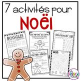 French Christmas Activities - 7 activités pour Noël