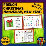 French Christmas Activities, Hanukkah, French Boom Cards,