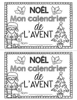 FRENCH CHRISTMAS NOËL (Advent Calendar Booklet/Calendrier de l'avent)