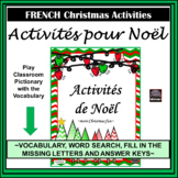 French Christmas Activities/Noël-missing letters activity-