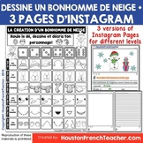 French Christmas Activity - Noel Activity- Dessine un bonh