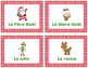 French Christmas Activity - Noel Activity - Scavenger Hunt Game & Word Wall