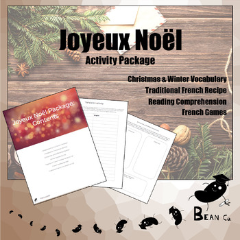 french christmas activity package joyeux no l by bean co. Black Bedroom Furniture Sets. Home Design Ideas