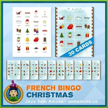 French Christmas Noël Bingo • 30 cards
