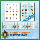 French Christmas Noël Bingo • 30 cards