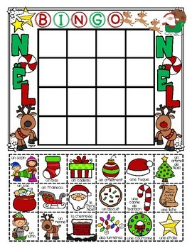 French Christmas Bingo