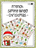 French Christmas Bingo - Bingo de Noël - Simplified