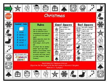 French Christmas Board Game