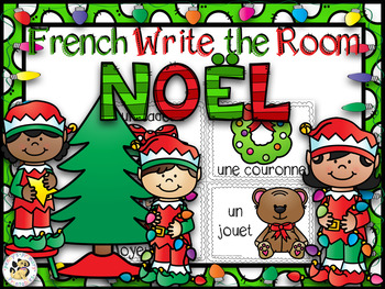 French Christmas Math and Literacy Bundle