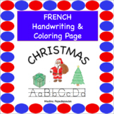 French Christmas COLORING & HANDWRITING PAGES