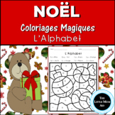 French Christmas Color by Letter | Coloriages Magiques de