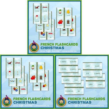 French Christmas Flash Cards