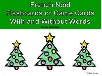 French Christmas Game Cards / Flashcards - 32 Different Cards