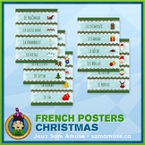 French Christmas Noël Word Wall Posters • Horizontal 1/4 page