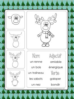 Decembre Christmas Journal Prompts and Directed Drawing FRENCH