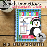 French Immersion Writing Prompts (Décembre) Grades 1-3
