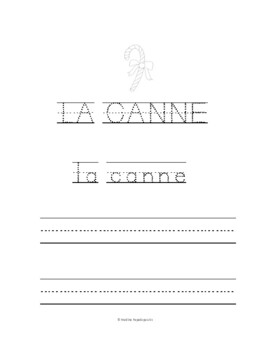 French Christmas-- Joyeux Noël - Vocabulary coloring page