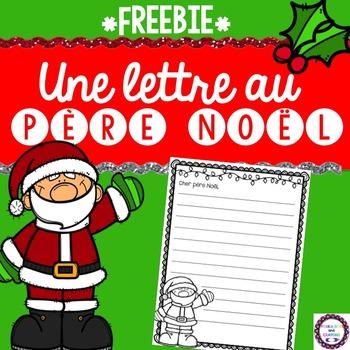 French Christmas Letter to Santa FREEBIE (Lettre au Père Noël)