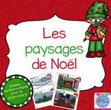 French Christmas Math Center/ Paysages de Noël {Préscolaire}