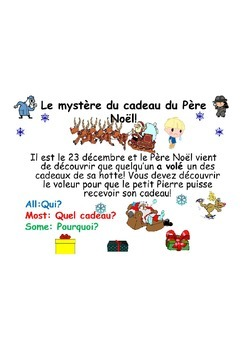 Noël French Teaching Resources. Christmas Mystery: Perfect Tense.