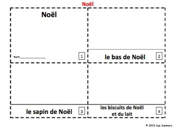 French Christmas / Noël 2 Emergent Reader Booklets and Presentation