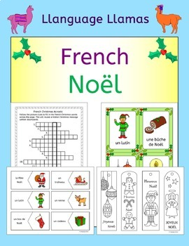 French Christmas - Noel - fun activities, worksheets, word wall, bingo, cards