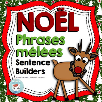 French Christmas Activity: Scrambled Sentences | Noël français