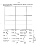 French Christmas Noel Bingo Loto Game with pictures discovering