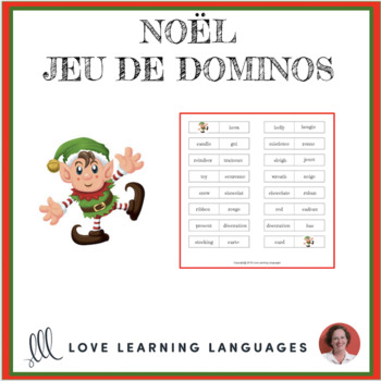 French Christmas - Noël - Jeu de Dominos