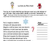 French Christmas Noel - La liste de Noel reading comprehension