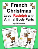 French Christmas / Noel Label the Reindeer with Animal Body Parts