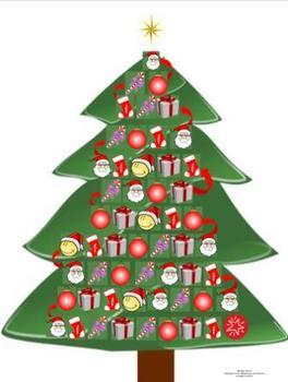 French Christmas-Noël Vocabulary L'Arbre de Noël Game Board