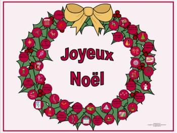 French Christmas-Noël Vocabulary La Couronne Game Board