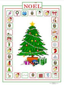 French Christmas-Noël Vocabulary  Noël Game Board