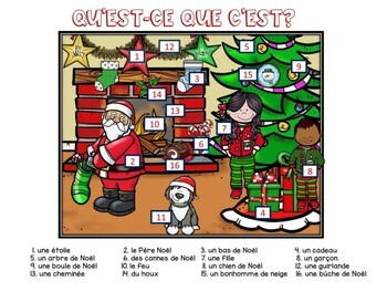 French Christmas Noel reading and speaking activity