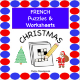 French Christmas PUZZLES & WORKSHEETS | Crossword, Matchin