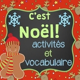 French Christmas Package and Vocabulary (Activités de Noël et vocabulaire)