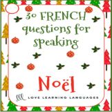 French Christmas Question Cards - 30 French Christmas Speaking Prompts - Noël
