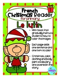 French Christmas Reader Mini-Book: Le lutin