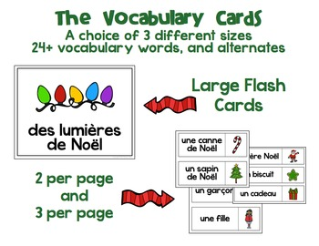 Noël: French Christmas Vocabulary Speaking and Writing Activities