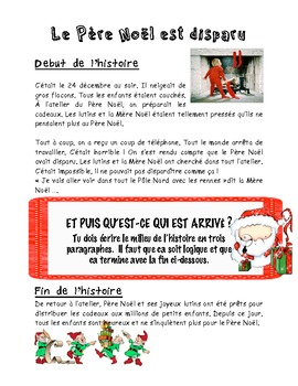 French Christmas Story Writing Prompt