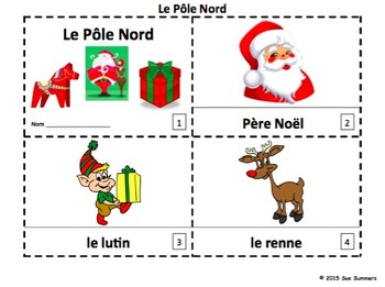 French Christmas The North Pole / Le Pôle Nord 2 Booklets